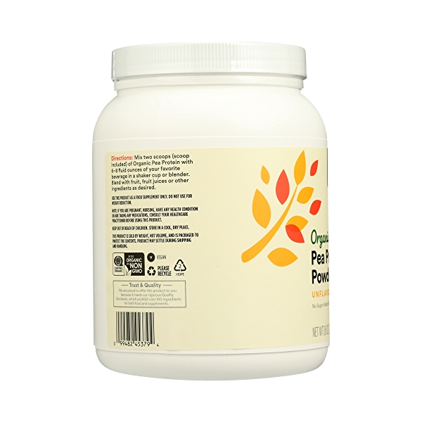 Organic Pea Protein, 16 oz 6