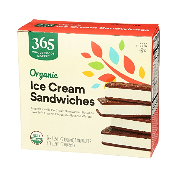 Organic Ice Cream Sandwiches, 21.9 fl oz 4