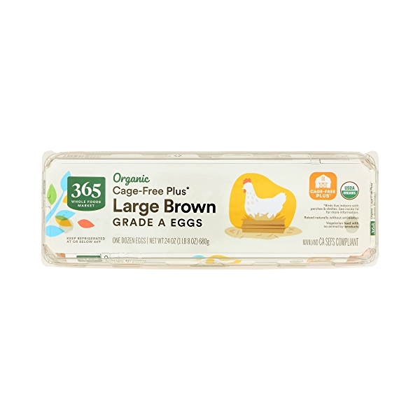 Organic Large Brown Grade A Eggs, 12 Count 1