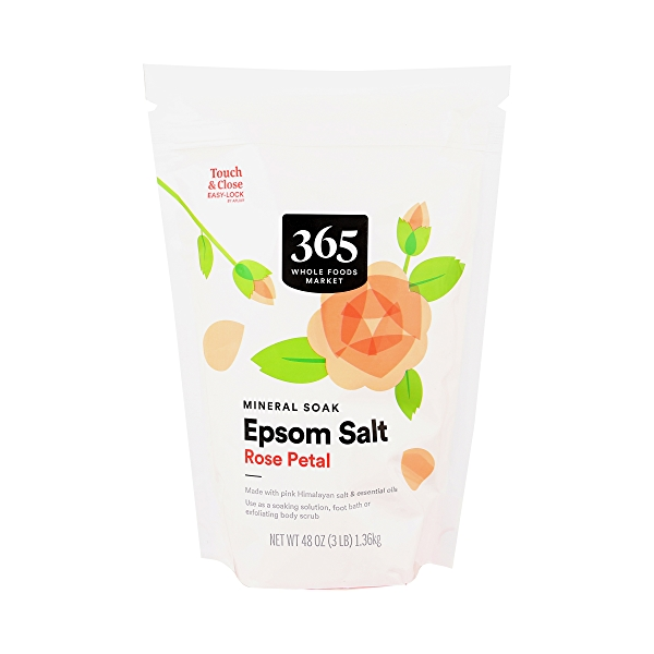 Rose Petal Epsom Salt, 48 oz 1