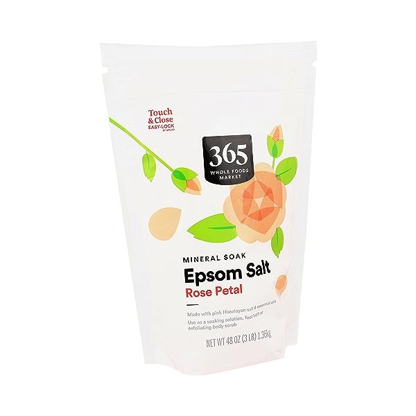Rose Petal Epsom Salt, 48 oz 2