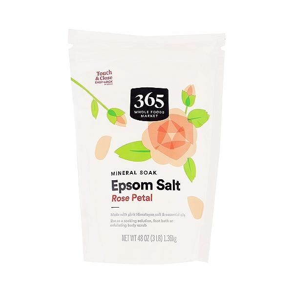 Rose Petal Epsom Salt, 48 oz 3