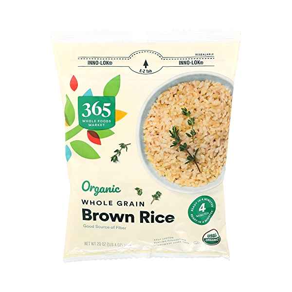 Organic Whole Grain Brown Rice, 20 oz 1