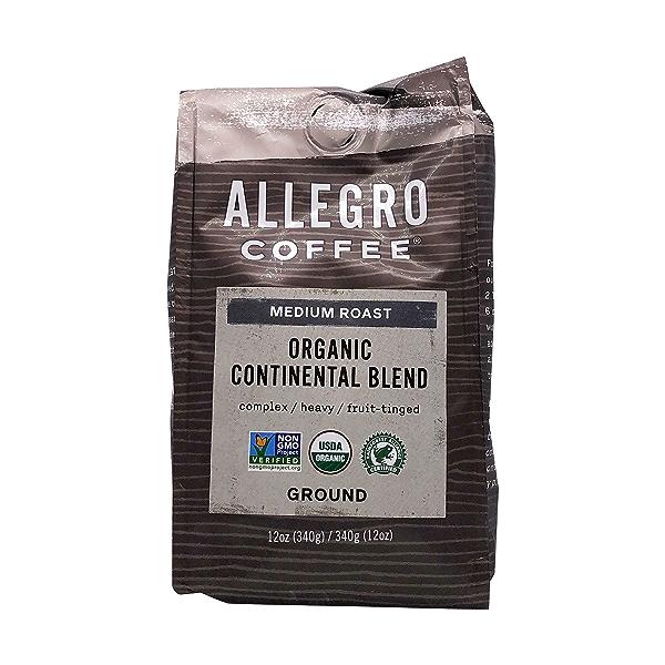 Organic Continental Blend Ground Coffee, 12 oz 1