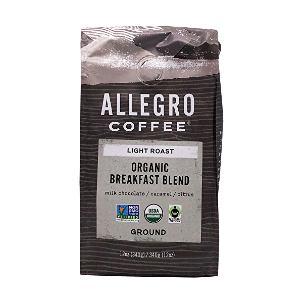 Organic Breakfast Blend Ground Coffee, 12 oz 1