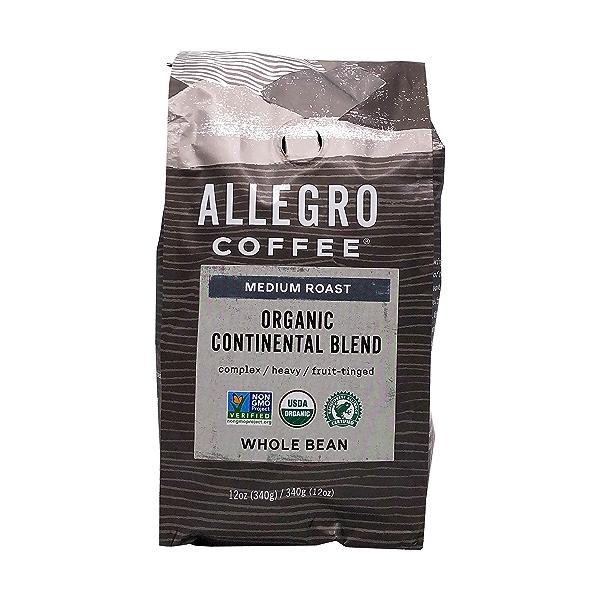 Organic Continental Blend Whole Bean Coffee, 12 oz 1