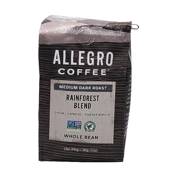 Medium Dark Rainforest Blend Whole Bean Coffee, 12 oz 1