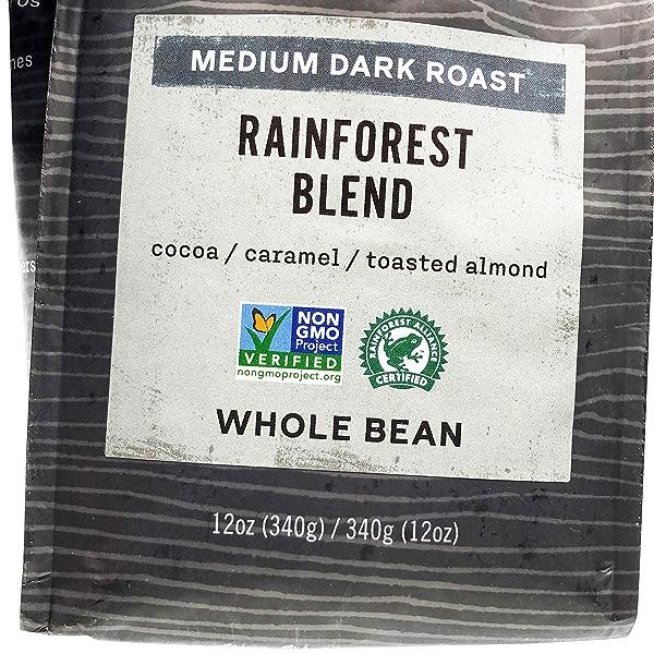 Medium Dark Rainforest Blend Whole Bean Coffee, 12 oz 7