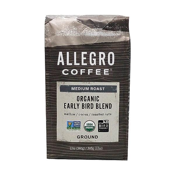 Organic Early Bird Blend Ground Coffee, 12 oz 1