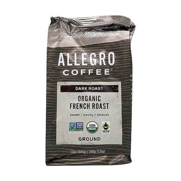 Organic French Roast Ground Coffee Beans, 12 oz 1