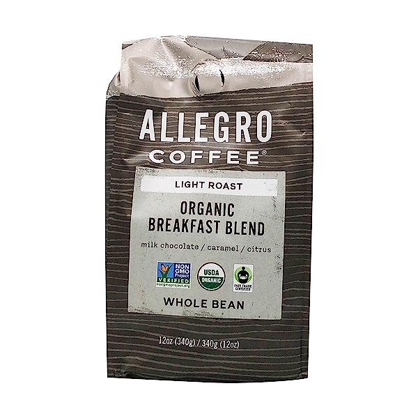 Organic Breakfast Blend Whole Bean Coffee, 12 oz 1