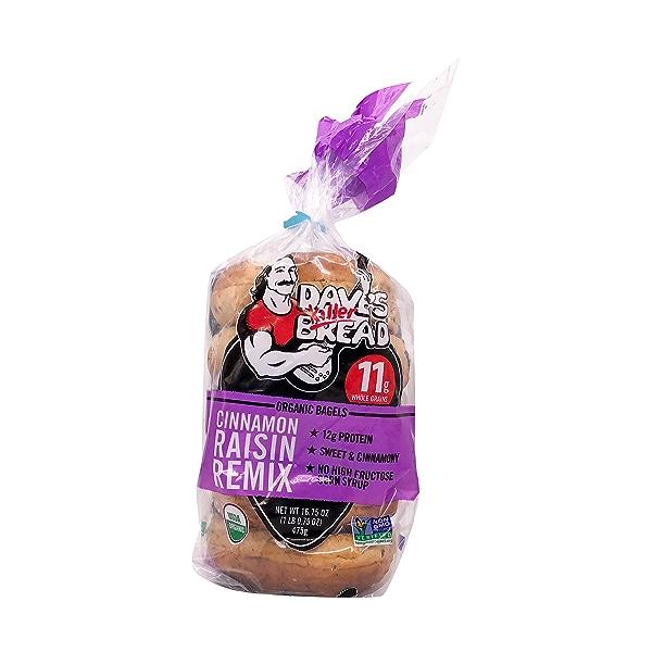 Organic Cinnamon Raisin Remix Bagel, 16.75 oz 1