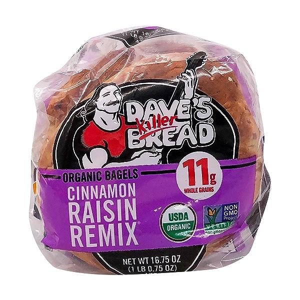 Organic Cinnamon Raisin Remix Bagel, 16.75 oz 6
