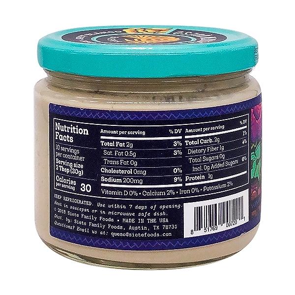 Spicy Blanco Cashew Queso Dip, 10.8 oz 2