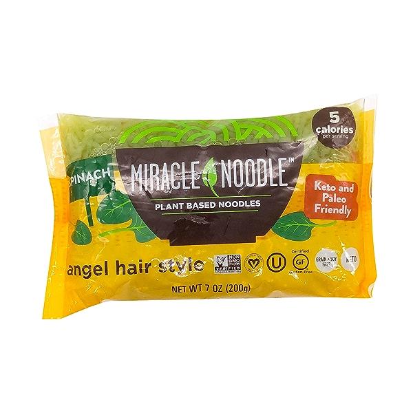 (Konjac) Spinach Angel Hair Pasta, 7 oz 1