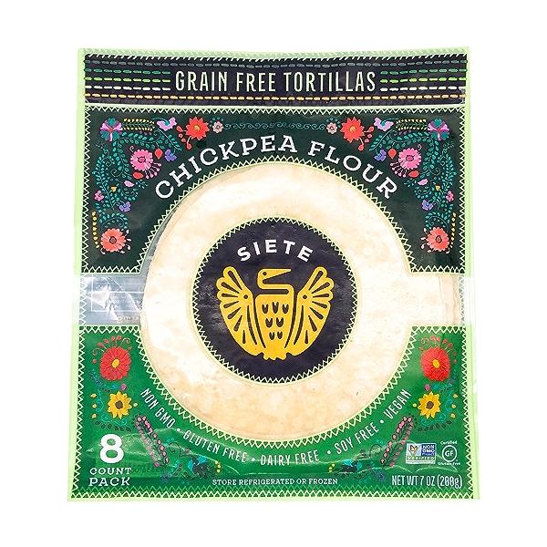 Grain Free Chickpea Flour Tortilla, 7 oz 1