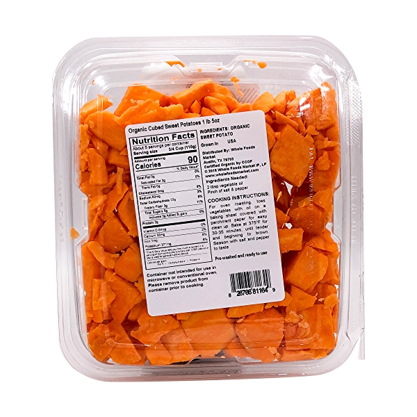 Organic Cubed Sweet Potato 2