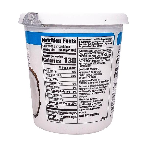 Plain Coconutmilk Yogurt Alternative, 24 oz 2