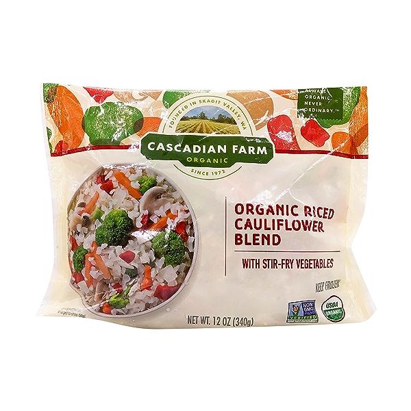 Organic Stir Fry Veggies Riced Cauliflower, 12 oz 1