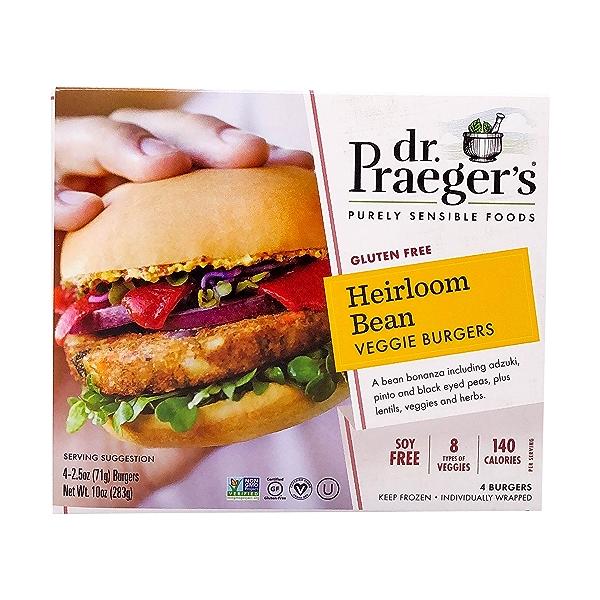 Sensible Foods Heirloom Bean Veggie Burgers, 10 oz 1