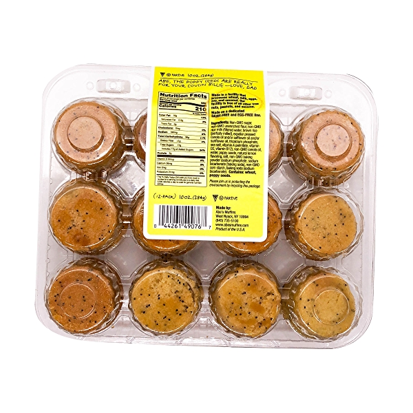 Mini Vegan Lemon Poppy Seed Muffins, 10 oz 2