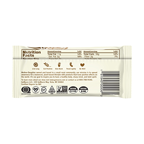 Peanut Butter Chocolate Chip MacroBar, 2.4 oz 2