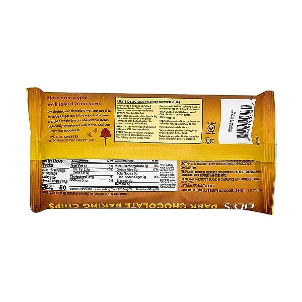 Stevia Sweetened Dark Chocolate Baking Chips, 9 oz 3