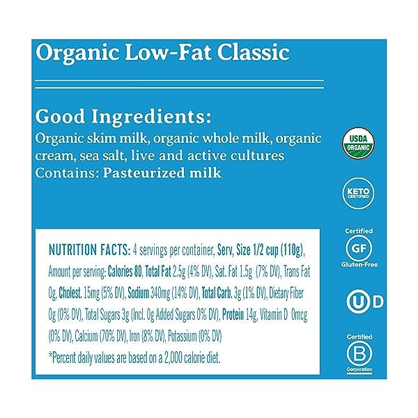 Organic Low-Fat Classic Cottage Cheese, 2% Milk Fat, 16 oz 2