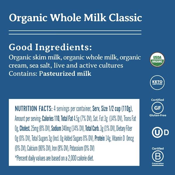 Organic Whole Milk Classic Cottage Cheese, 4% Milk Fat, 16 oz 2
