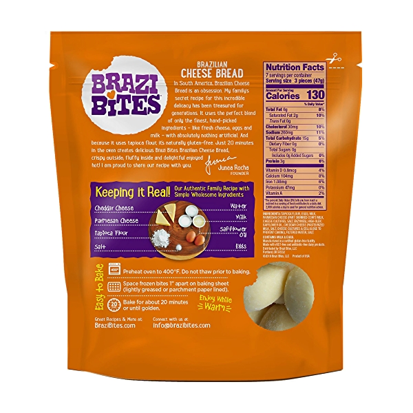 Gluten-Free Cheese Bread, Cheddar & Parmesan, 11.5oz (Frozen) 2