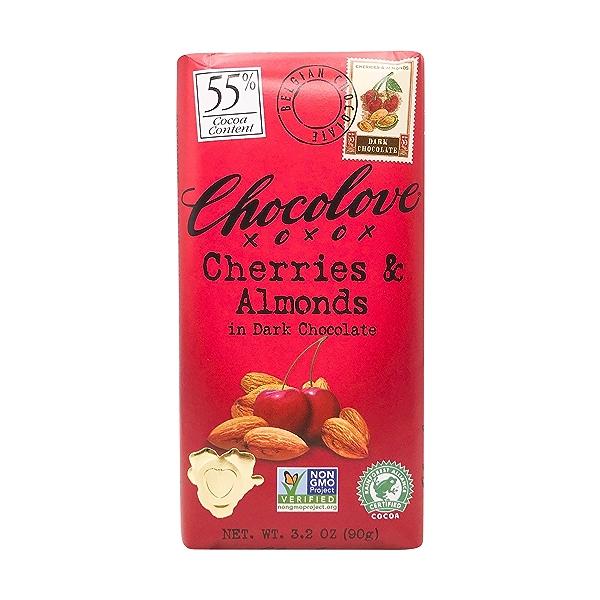 Cherries & Almonds In Dark Chocolate, 3.2 oz 1
