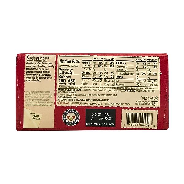 Cherries & Almonds In Dark Chocolate, 3.2 oz 2