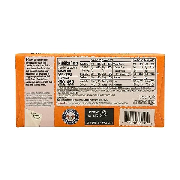 Orange Peel In Dark Chocolate, 3.2 oz 2