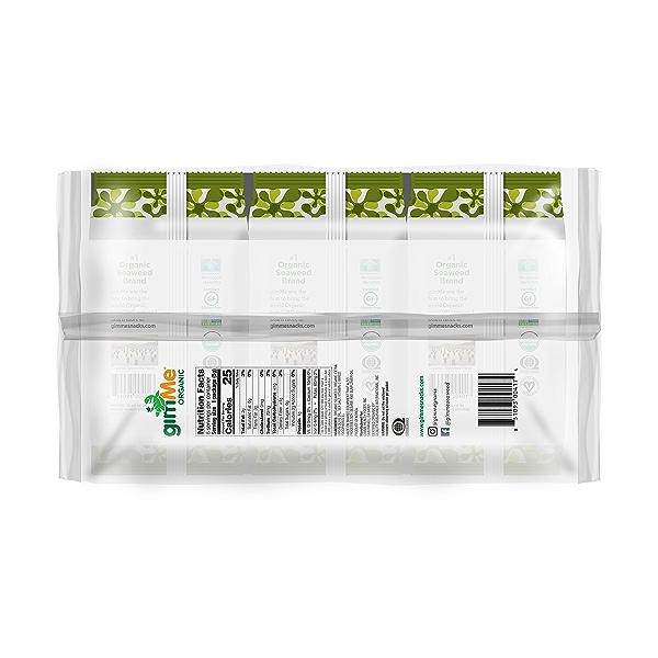 Organic Roasted Premium Seaweed Snack, Extra Virgin Olive Oil, 0.32 Oz, 6 Pack, 1.05 oz 3