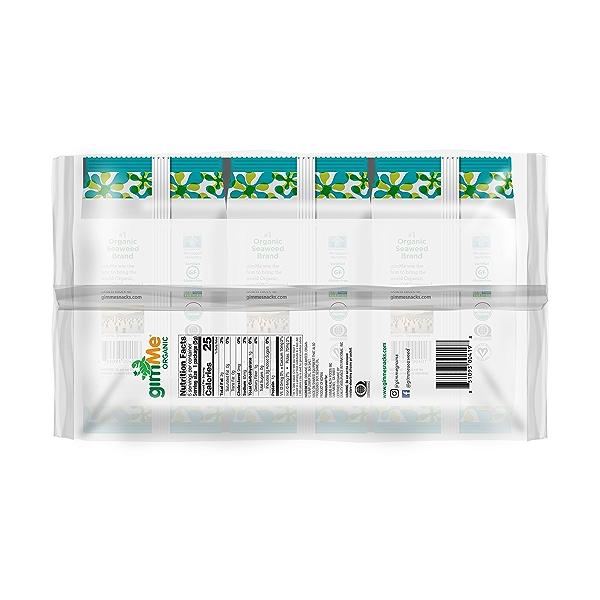 Organic Roasted Premium Seaweed Snack, Sea Salt, .17 Oz, 6 Pack, 1.05 oz 3