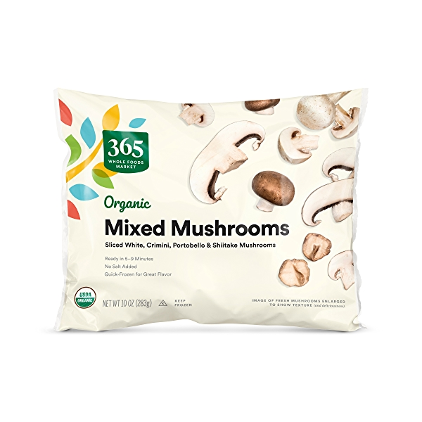 Frozen Organic Vegetables, Mixed Mushrooms 1