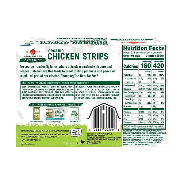 Organic Chicken Strips, 8 oz 2