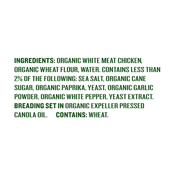 Organic Chicken Strips, 8 oz 4