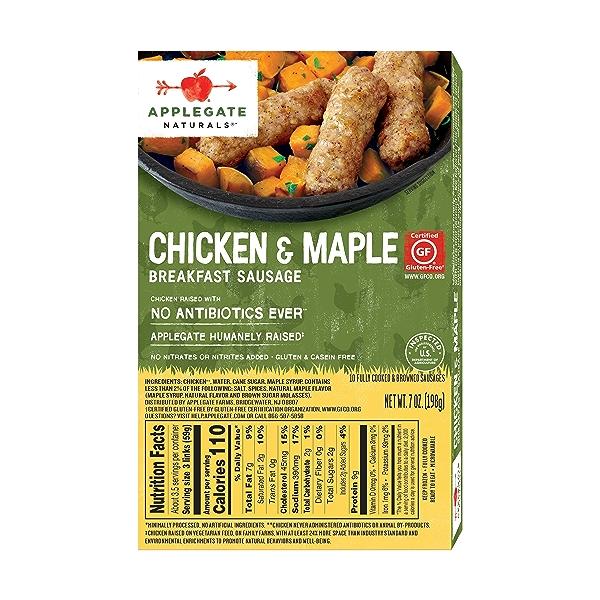 Chicken & Maple Breakfast Sausage, 7 oz 2