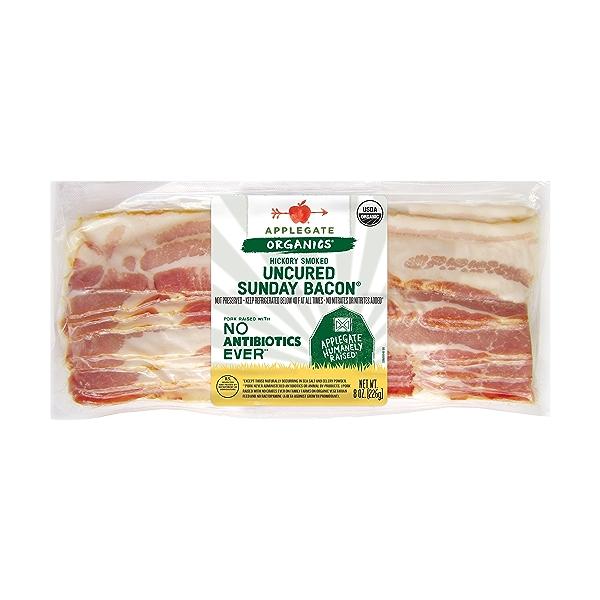 Organic Hickory Smoked Uncured Sunday Bacon 1