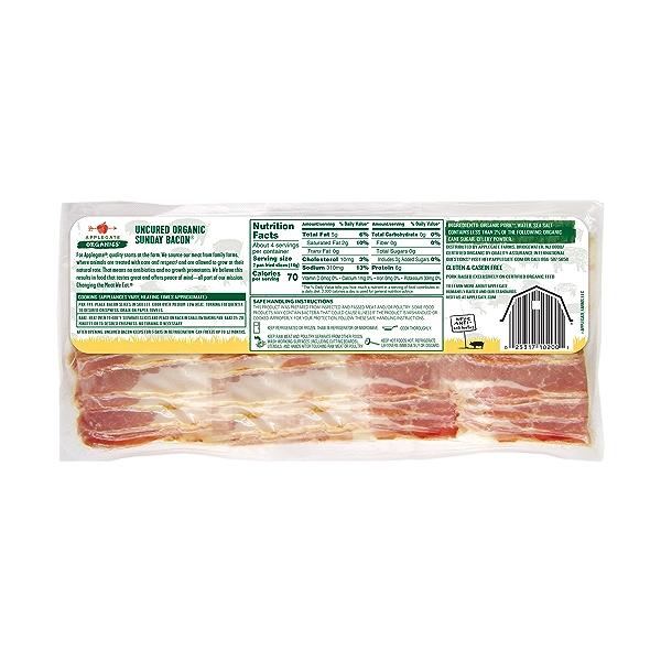 Organic Hickory Smoked Uncured Sunday Bacon 2