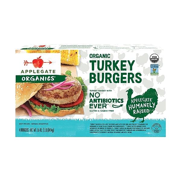 Organic Turkey Burgers 1