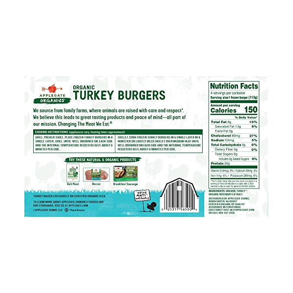 Organic Turkey Burgers 2