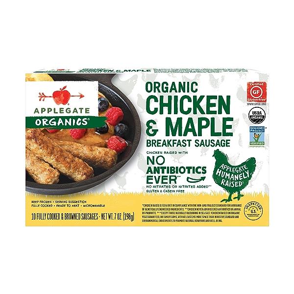 Organic Chicken & Maple Breakfast Sausage, 7 oz 1
