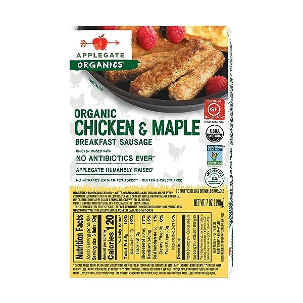 Organic Chicken & Maple Breakfast Sausage, 7 oz 2