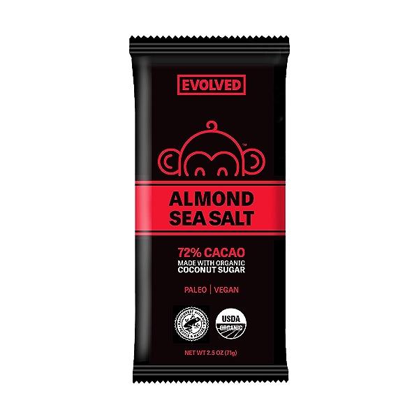 Almond Sea Salt Chocolate Bar, 2.5 oz 1