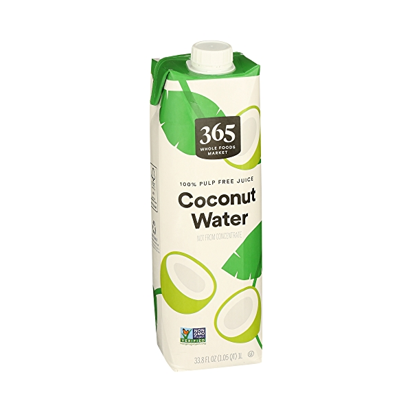 Shelf-Stable Coconut Water 100% Pulp Free Fuice (Not From Concentrate), 33.8 fl oz 1