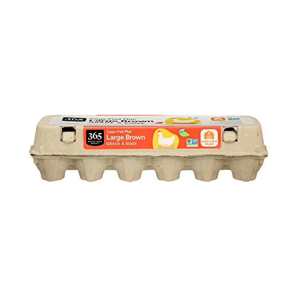 Grade A Eggs Cage-Free Plus Large Brown (12 Count), 24 oz 1