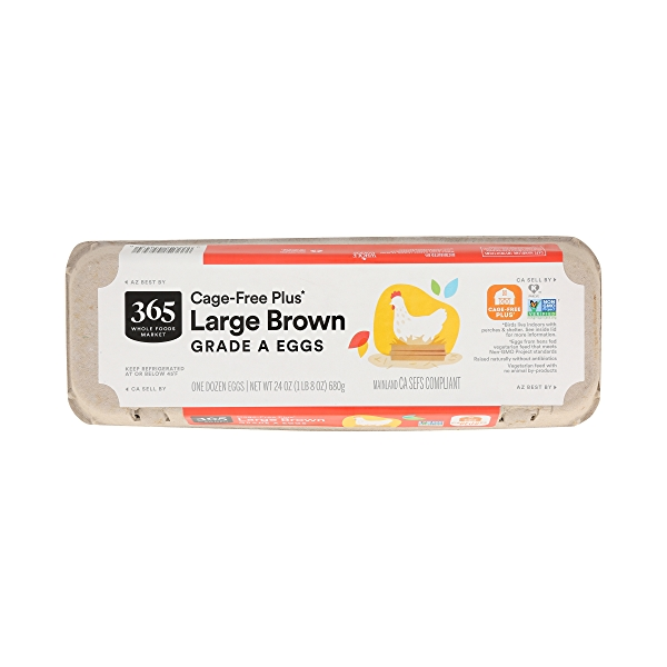 Grade A Eggs Cage-Free Plus Large Brown (12 Count), 24 oz 3