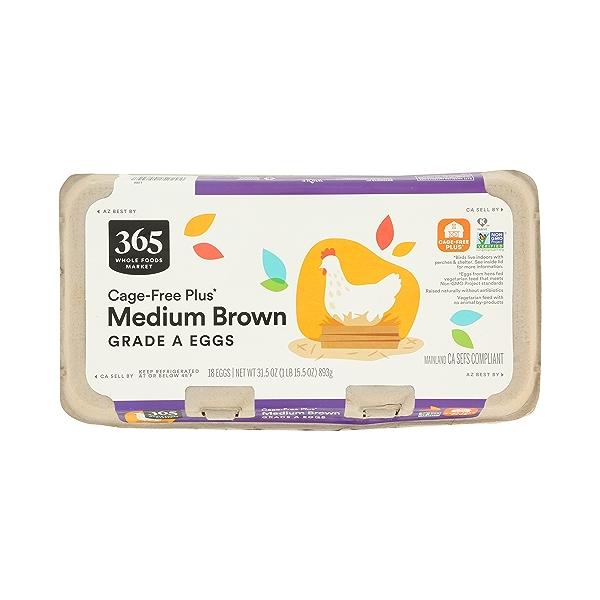 Grade A Eggs Cage-Free Plus Medium Brown (18 Count), 31.5 oz 2
